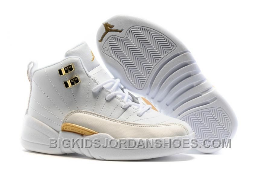 "b1ec49a7c42 2017 Kids Air Jordan 12 ""OVO White"" New Arrival, Price: $85.00 - Big Kids Jordan  Shoes - Kids Jordan Shoes - Cheap Jordan Kids Shoes"