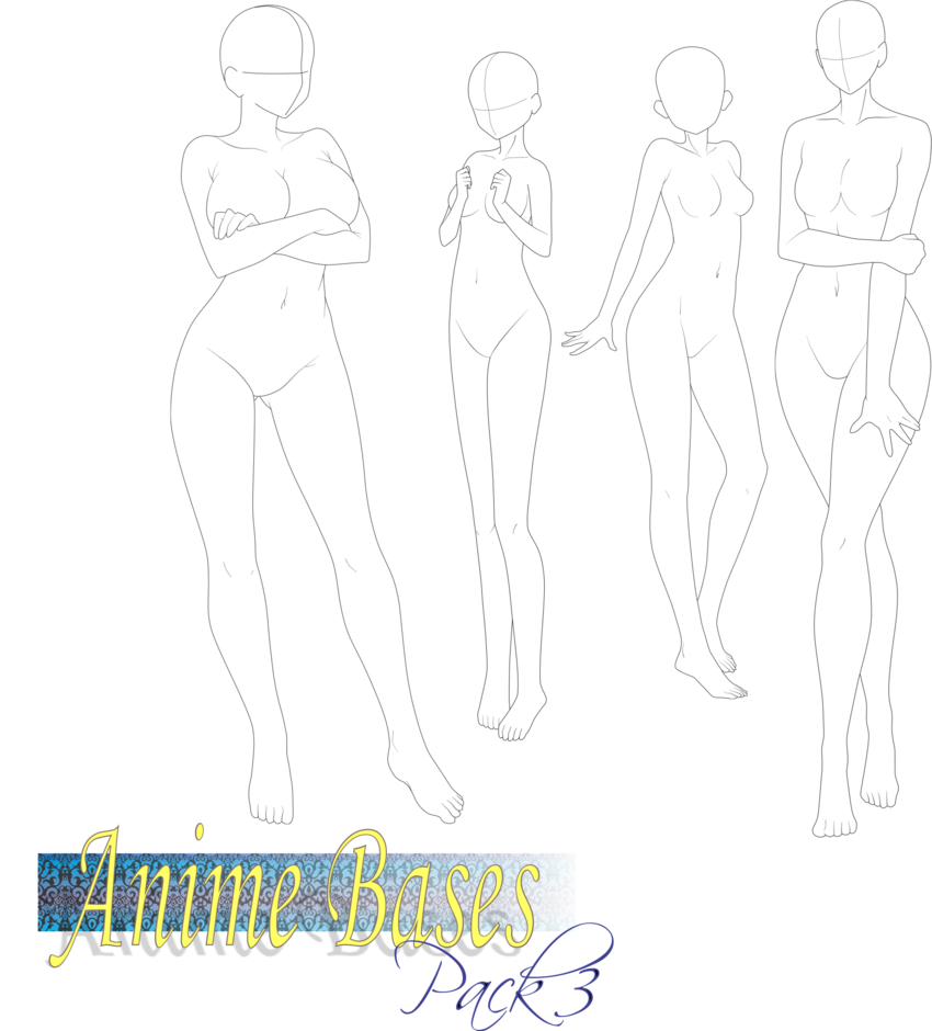 Anime Bases Pack 3 By Fvsj Anime Base Drawing Base Anime Drawings Tutorials
