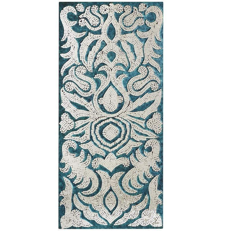 Damask Mirrors Mirrored damask panel teal pier 1 imports home decor mirrored damask panel teal pier 1 imports sisterspd