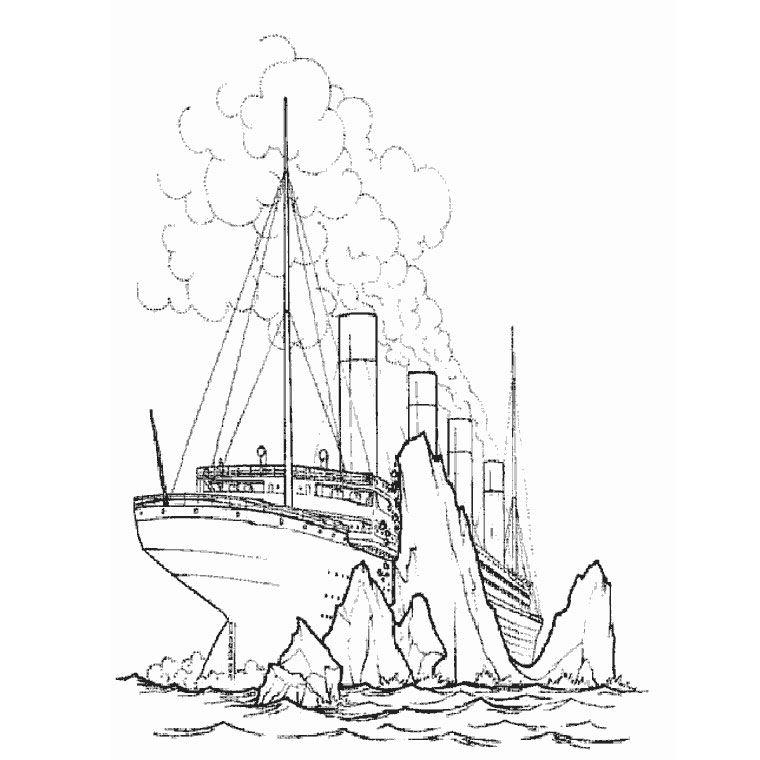 Coloriage Bateau Titanic A Imprimer Gratuit Coloriage Bateau Coloriage Dessin A Colorier