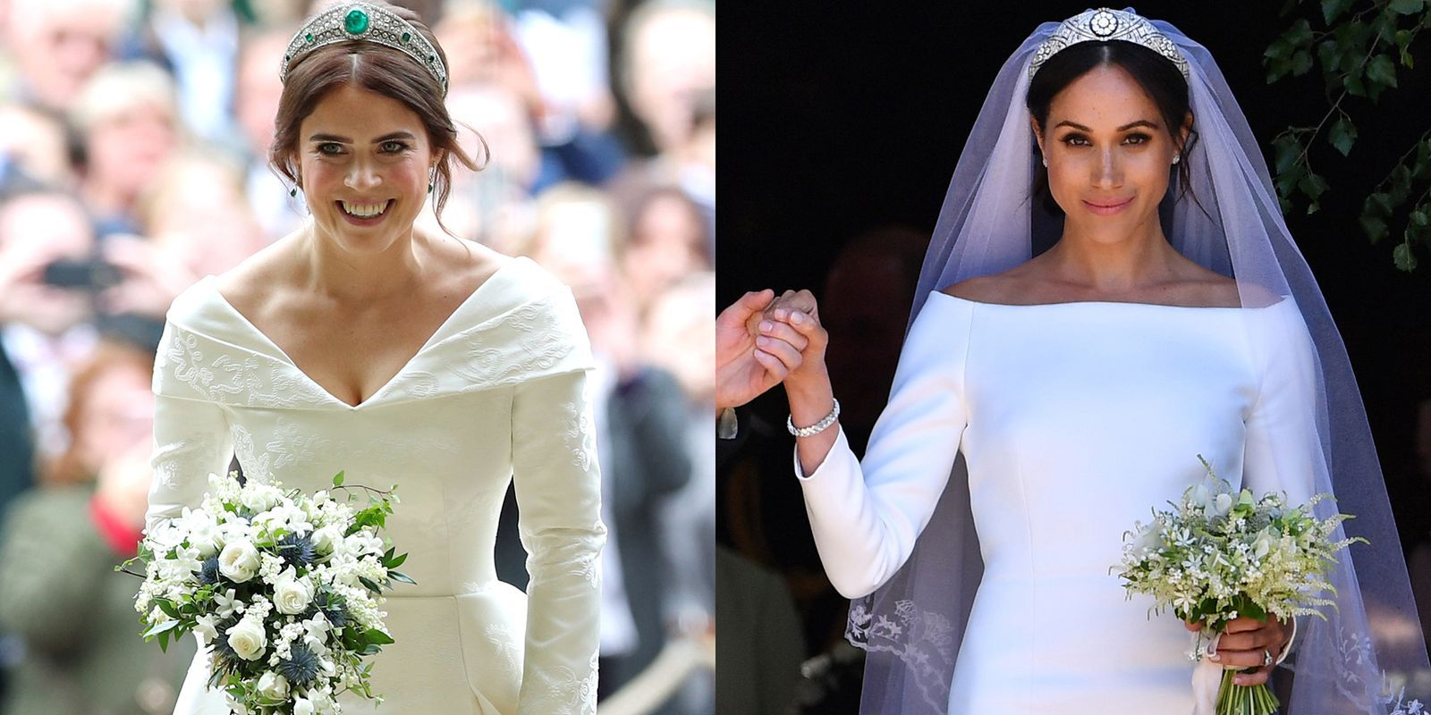 How Princess Eugenie S Wedding Dress Compared To Meghan Markle S And Kate Middleton S Royal Wedding Dress Best Wedding Dresses Wedding Dresses [ 800 x 1600 Pixel ]