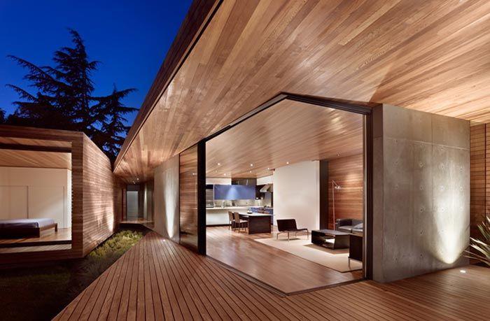 Maison californienne par terry terry architecture ce sont ivan et alexander terry du cabinet terry terry architecture qui sont à la base de ce projet