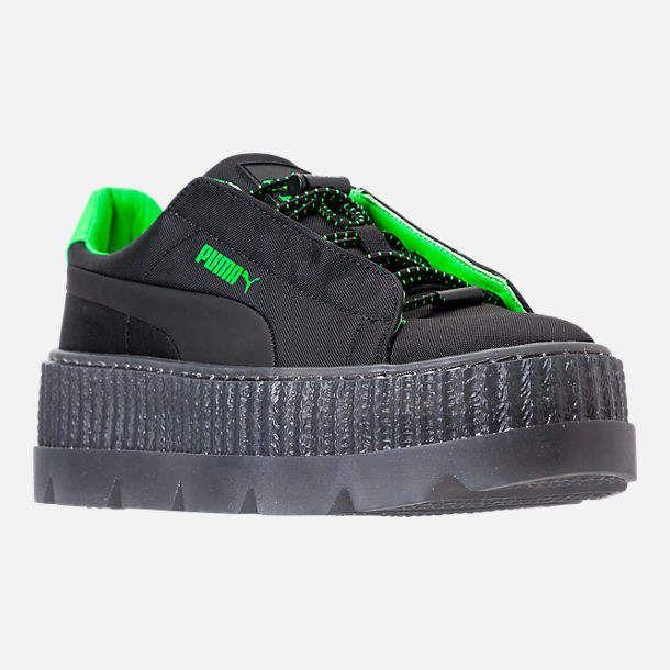 Rihanna Puma Creeper Green Velvet | Boots Sneakers Heels