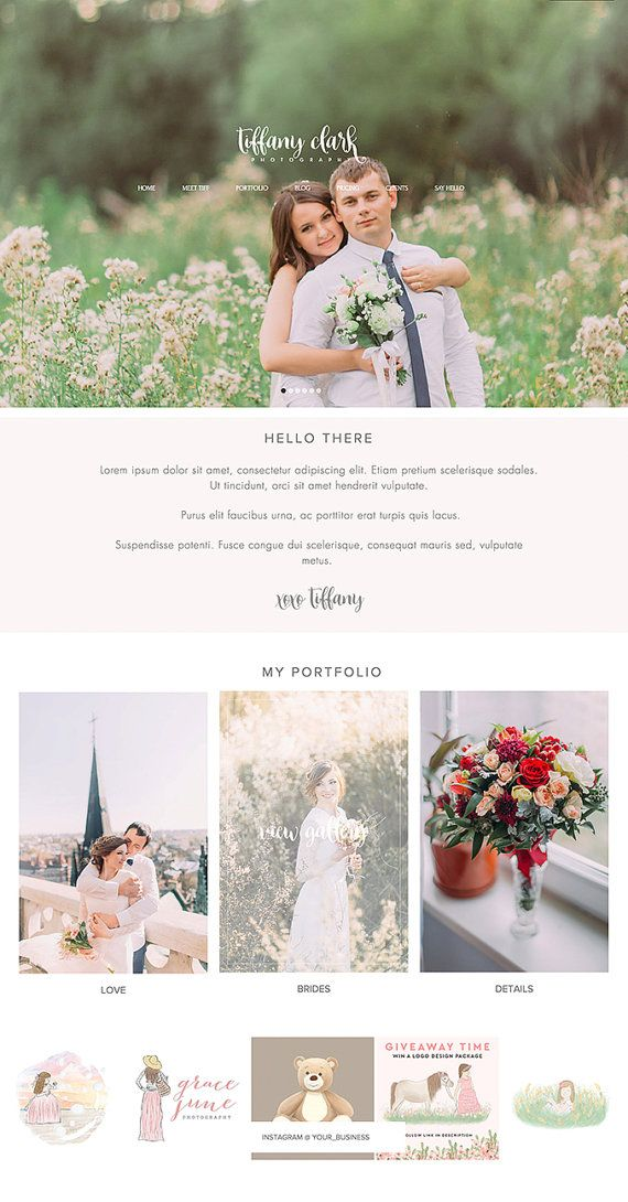 Hey I Found This Really Awesome Etsy Listing At Httpswwwetsy - Wedding photography website templates