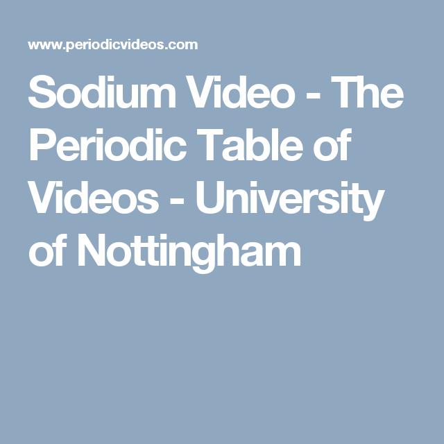 Sodium video the periodic table of videos university of sodium video the periodic table of videos university of nottingham urtaz Gallery