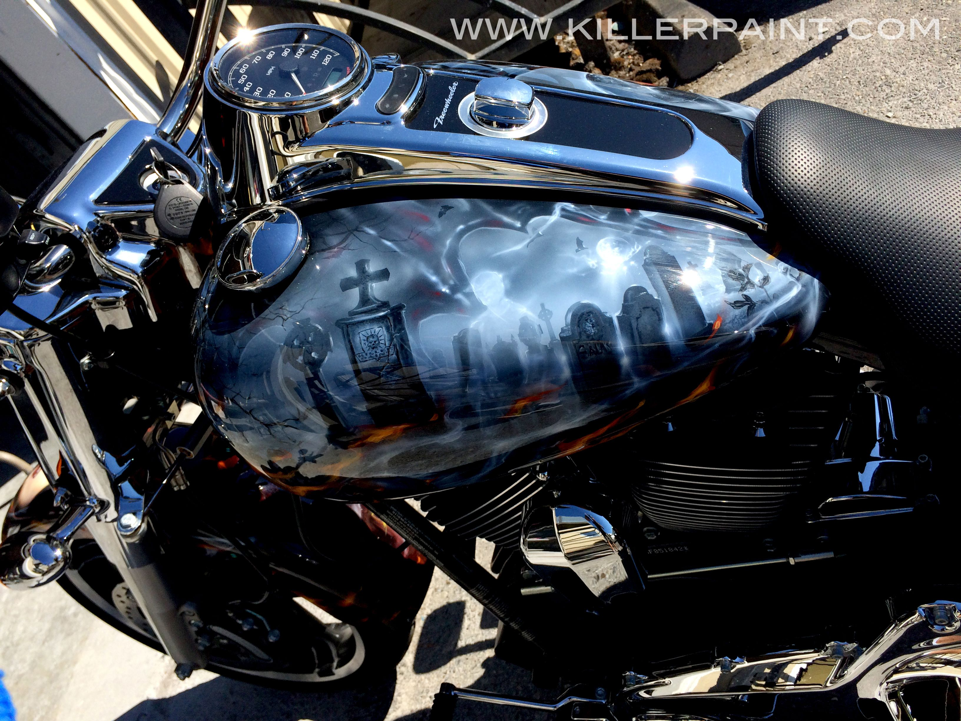 Freewheelin Vampires Bikes Motorcycle Art