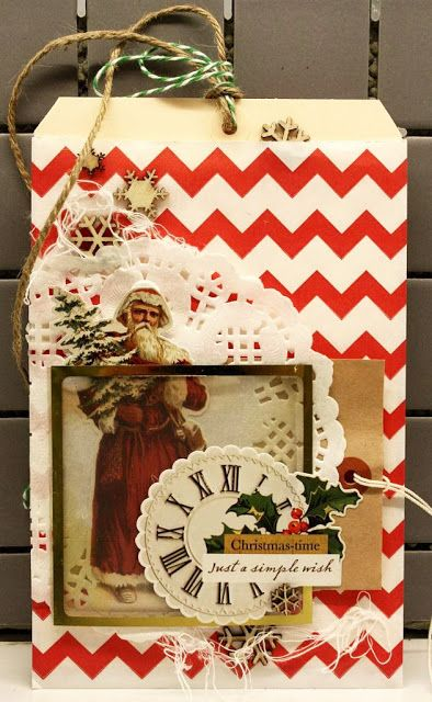 Christmas tag-card created by Dt Linda for anma.no