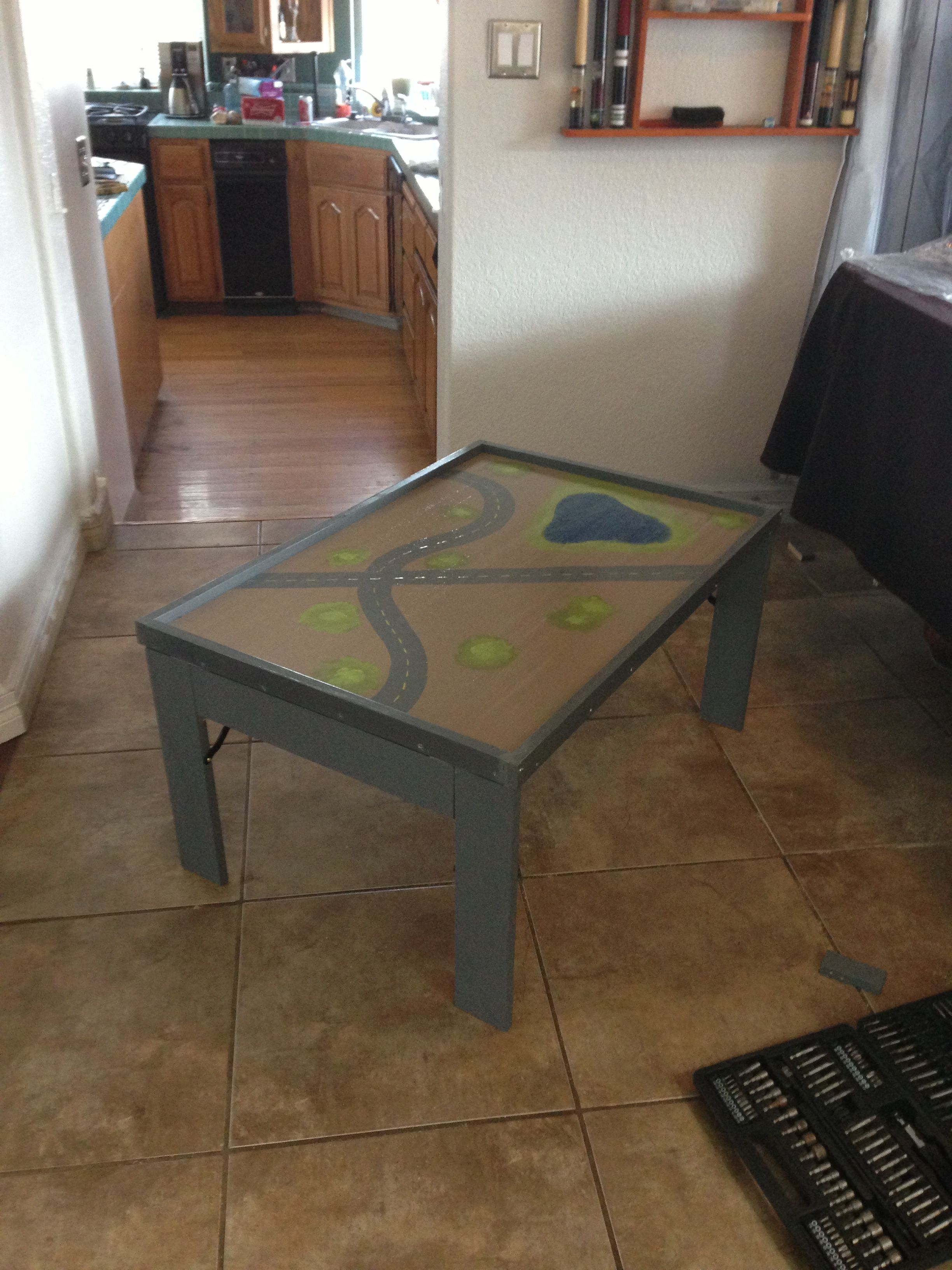 Homemade collapsible train table | My original works | Pinterest ...