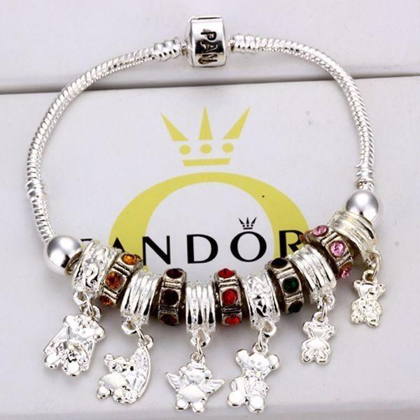 bracelet charm pandora argent