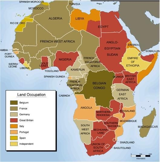 Map of African colonies in 1914 | Historical Maps | Pinterest