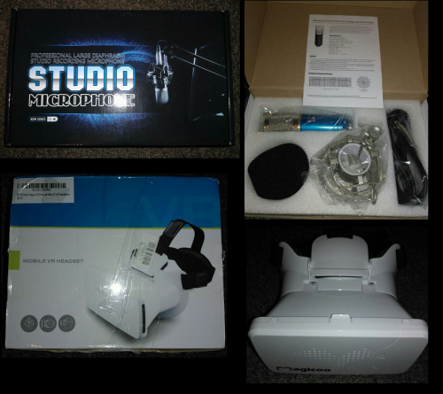 Professional Studio Microphone and Magicoo Mobile 3D