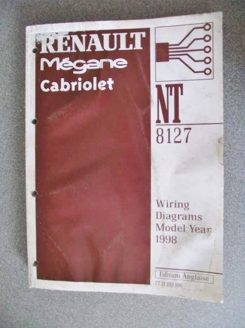 Renault Megane Cabriolet Wiring Diagrams Manual 1997