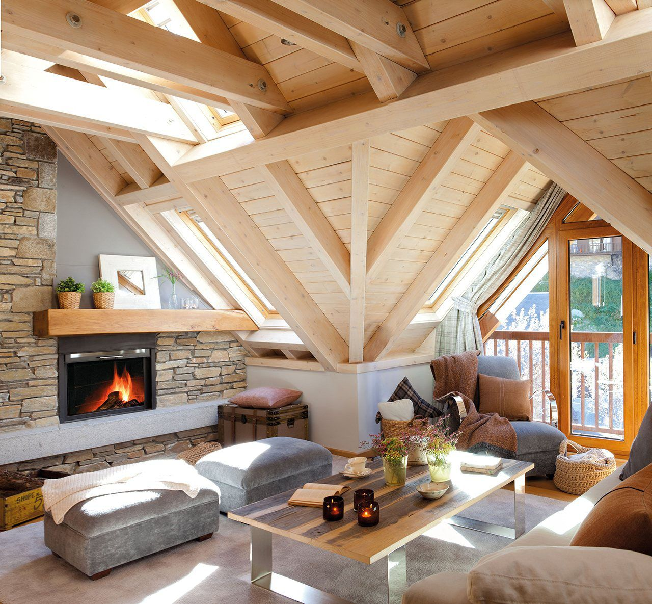 35 Cozy Home Interior Design Ideas: Cozy Rustic Mountain Retreat With A Contemporary Twist