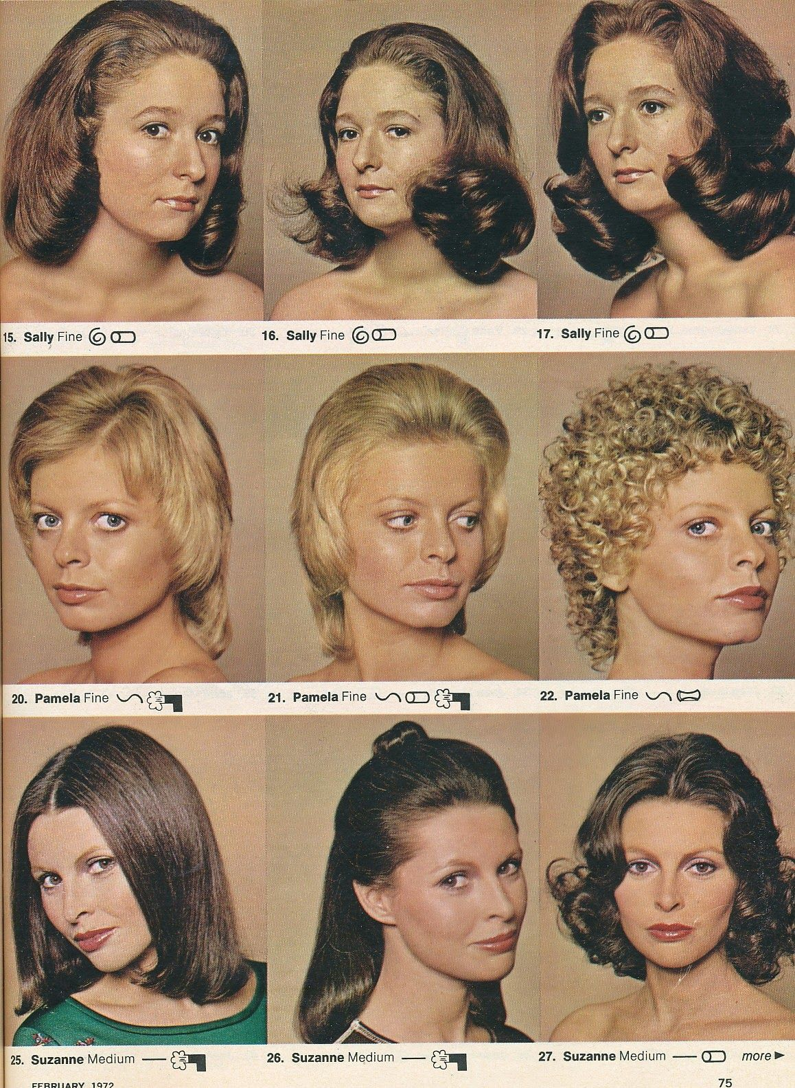 Middle Row In 2019 70s Hair 1970s Hairstyles Retro