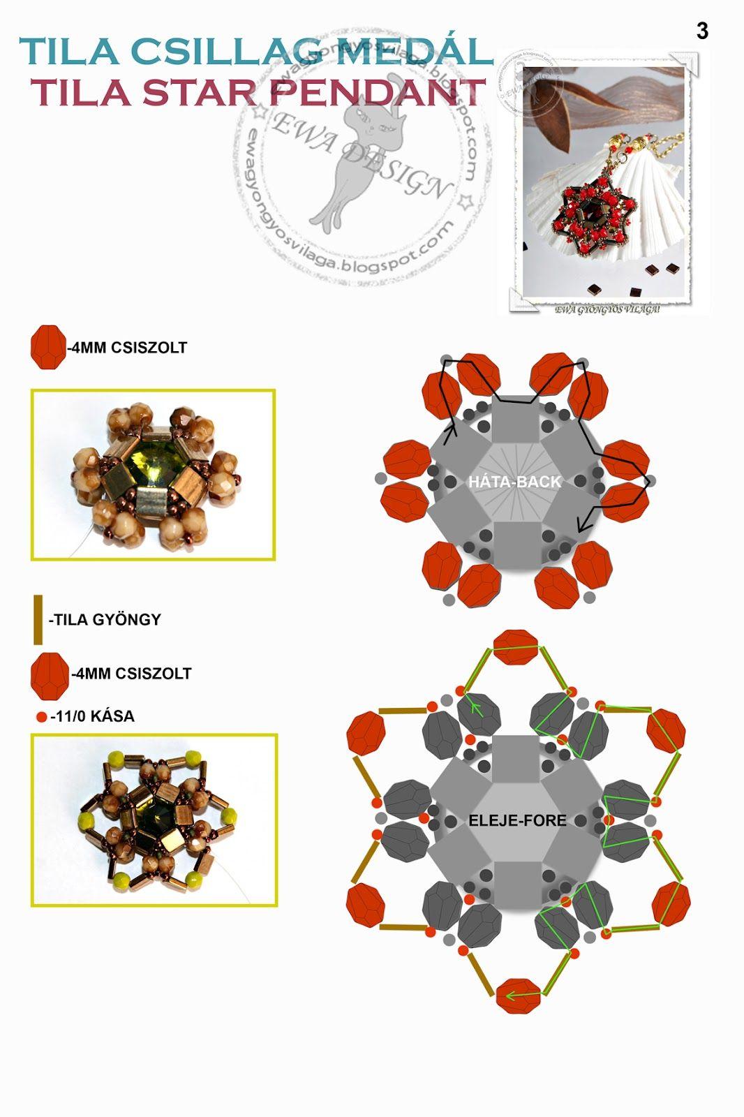 Pattern bijoux: Ciondolo Tila Star