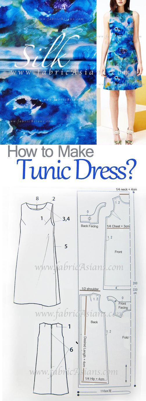 Sleeveless Tunic Dress Pattern free PDF | Sewing patterns ...