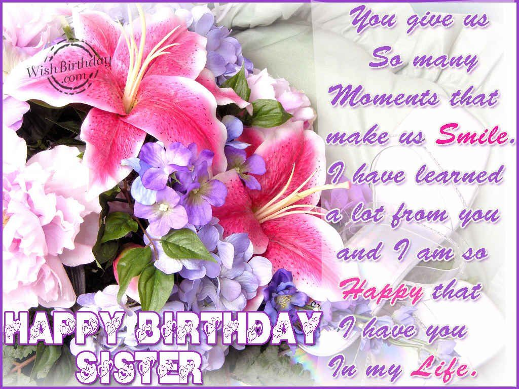 17 Best images about HAPPY BIRTHDAY – Happy Birthday Greetings for Sister
