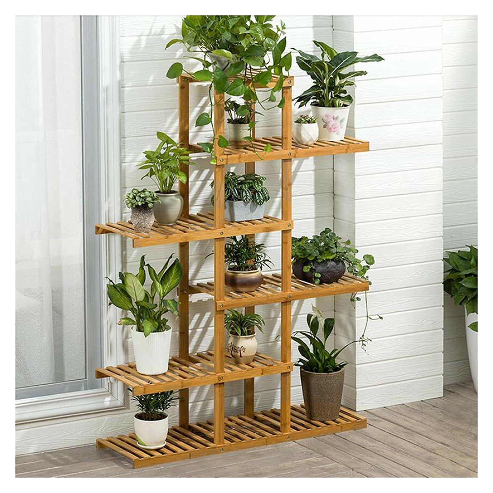 Bay Isle Home Dulcie Plant Stand Wayfair In 2020 Plant Shelves Wooden Plant Stands Wood Plant Stand