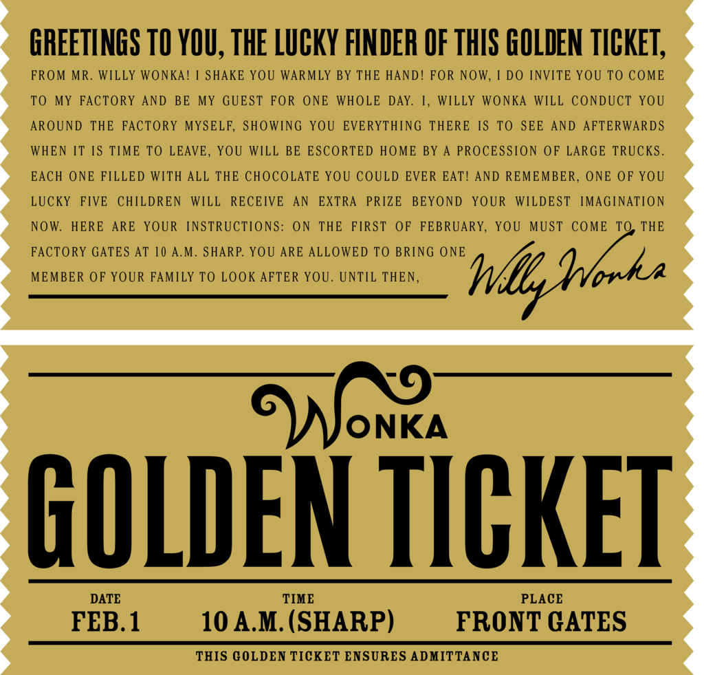 Golden ticket dating