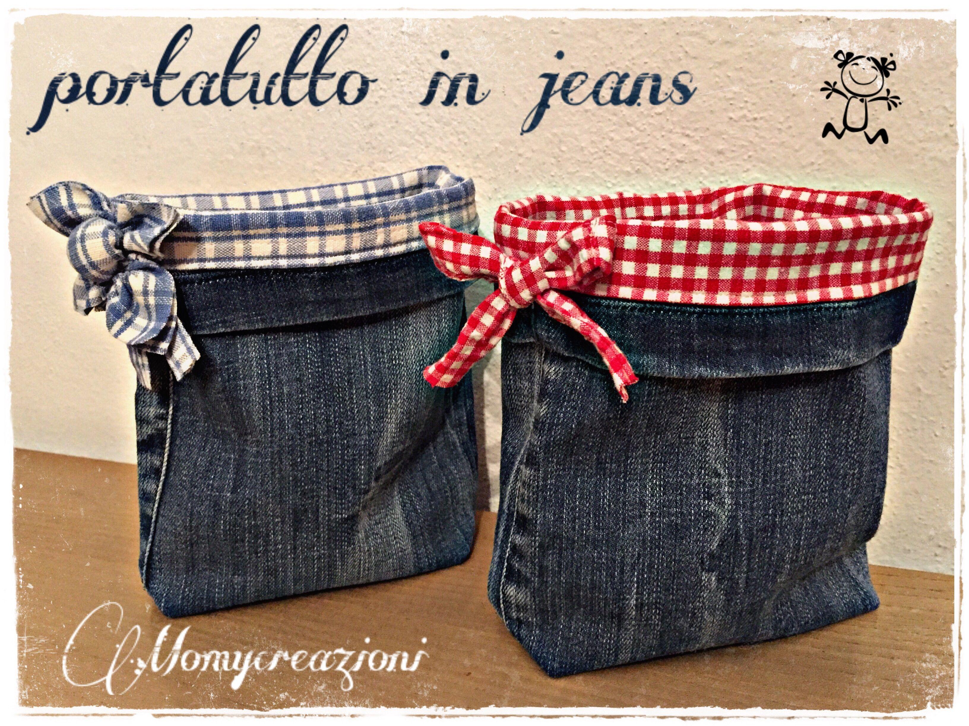 Cestini jeans cucito creativo 1 cucito artigianato natalizio cucito fai da te - Cucito creativo bagno ...