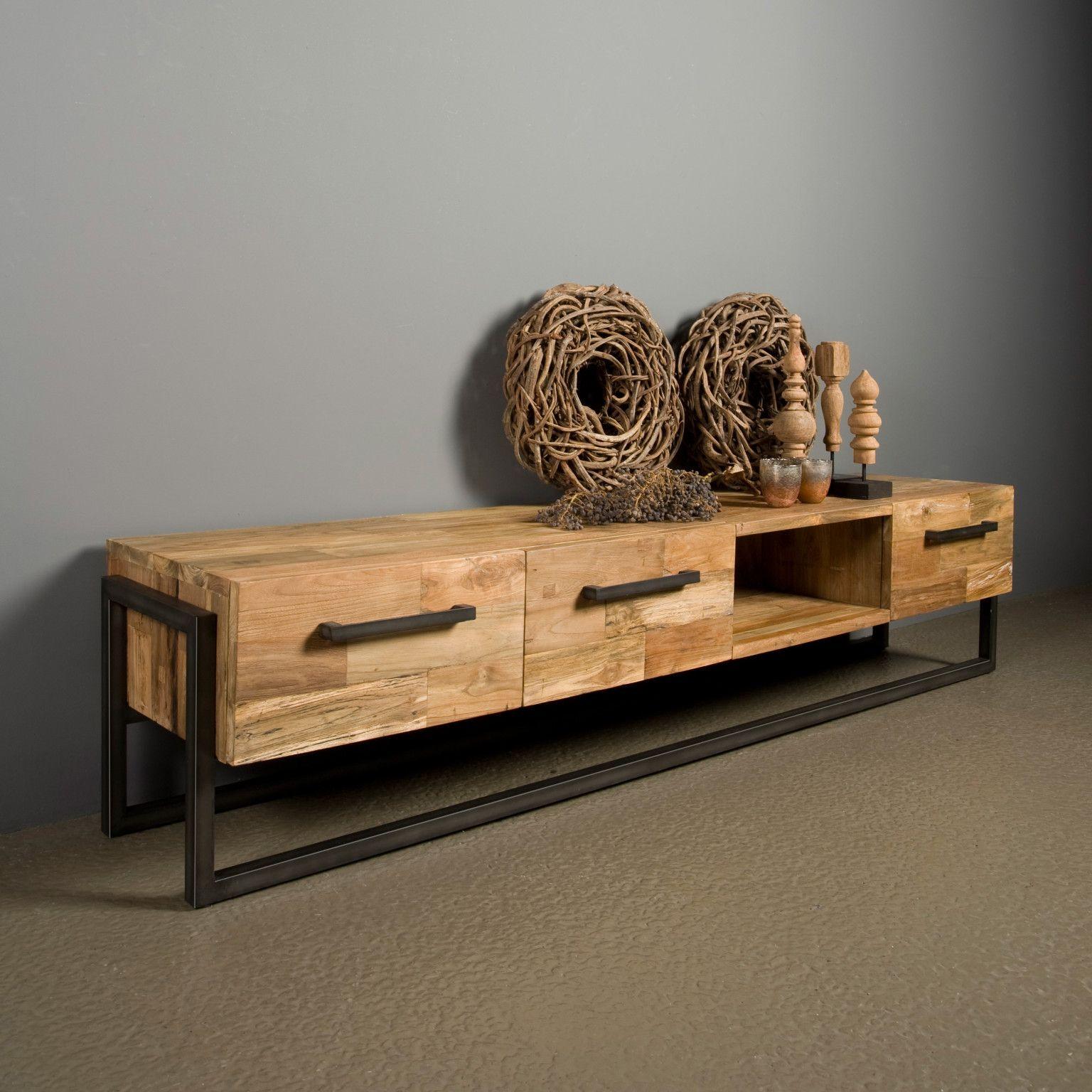 Modern Teak Tv Meubel.Tower Living Tv Meubel Potenza 206cm Furniture Diy Furniture