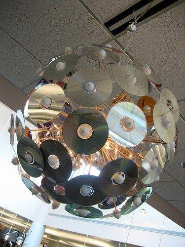 Lámpara con CDs