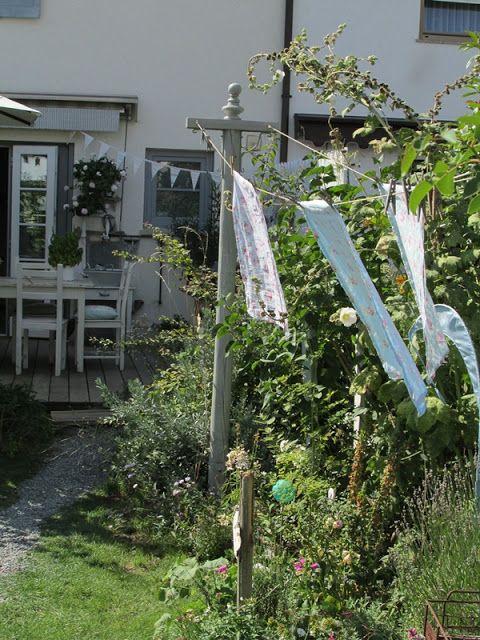 Eine Neue Wascheleine Wascheleine Garten Waldstrumpf