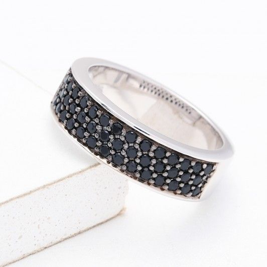 FERNDALE AT NIGHT RING IN STERLING SILVER by EQUALLI.COM