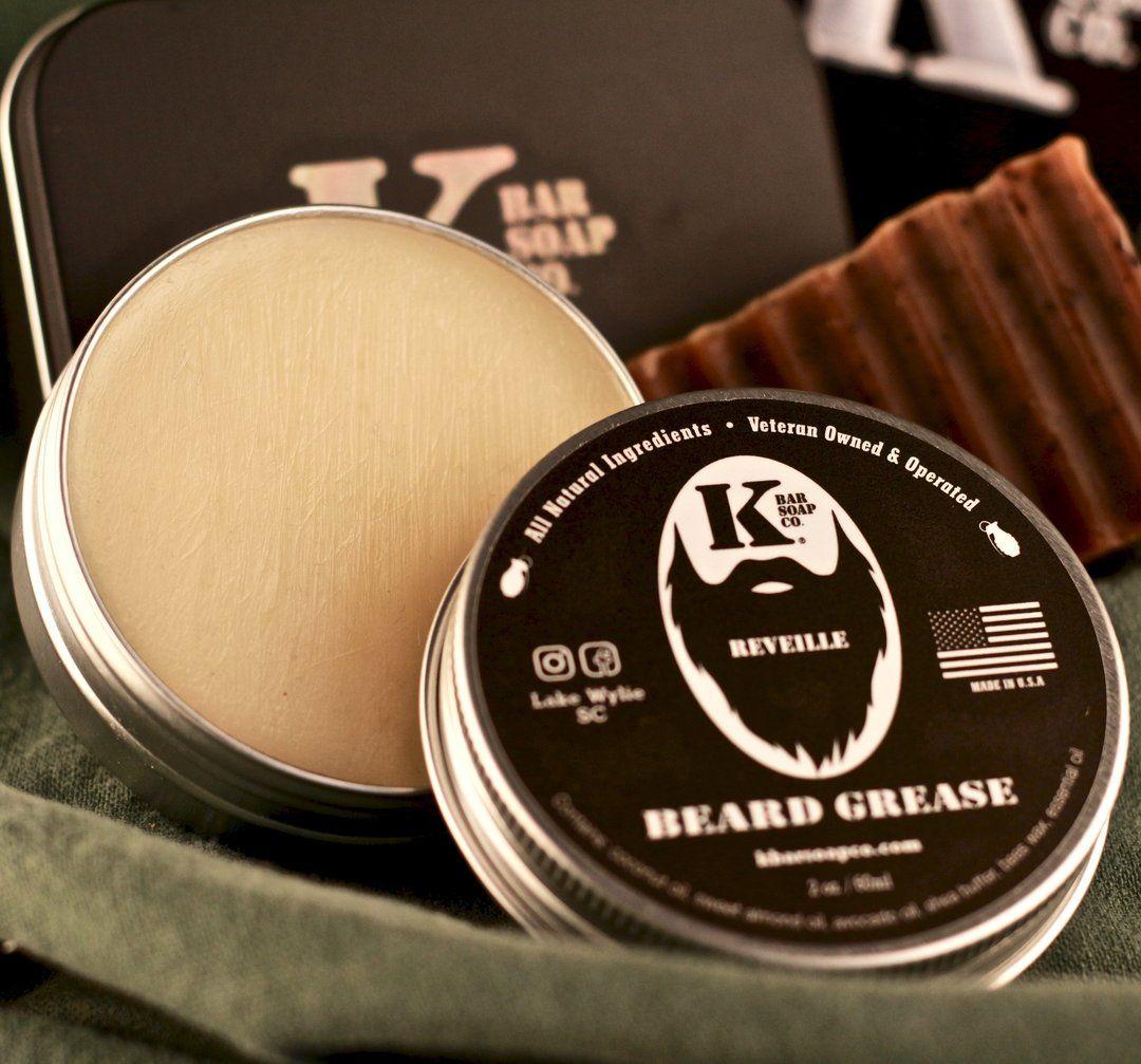 Beard balm (or beard butter) made with a blend of all