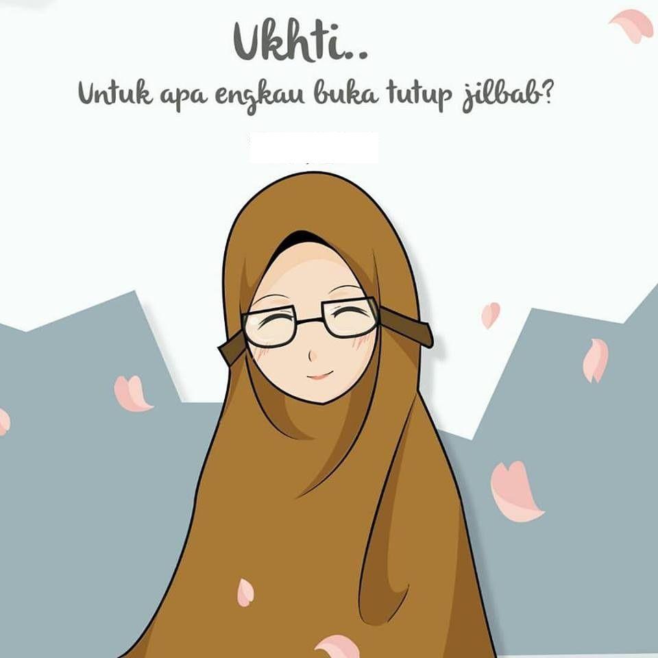 Gambar Kartun Muslimah Untuk Foto Profil Top Gambar