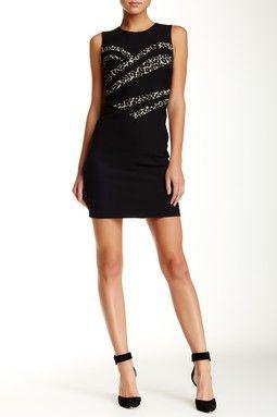 Marcia Sleeveless Print Contrast Dress