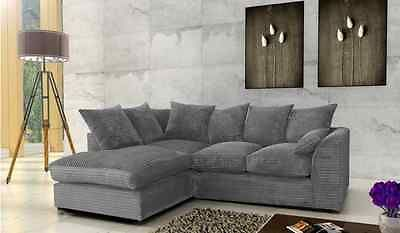 Details About Brand New Byron Corner Sofa Suite In Colours Grey Black Or Beige Corner Sofa Grey Corner Sofa Sofa