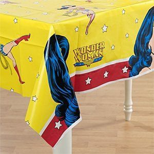 Wonder Woman Birthday Party Supplies Wonder Woman Tablecover 54