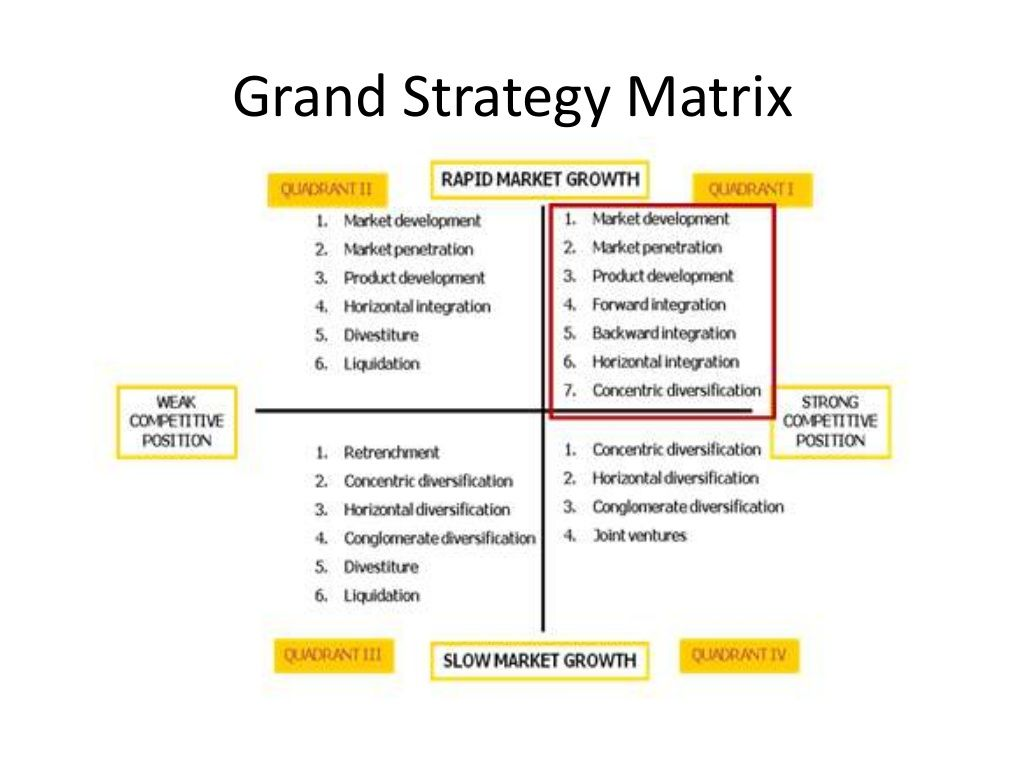 Grand Strategy Matrix  Business Models