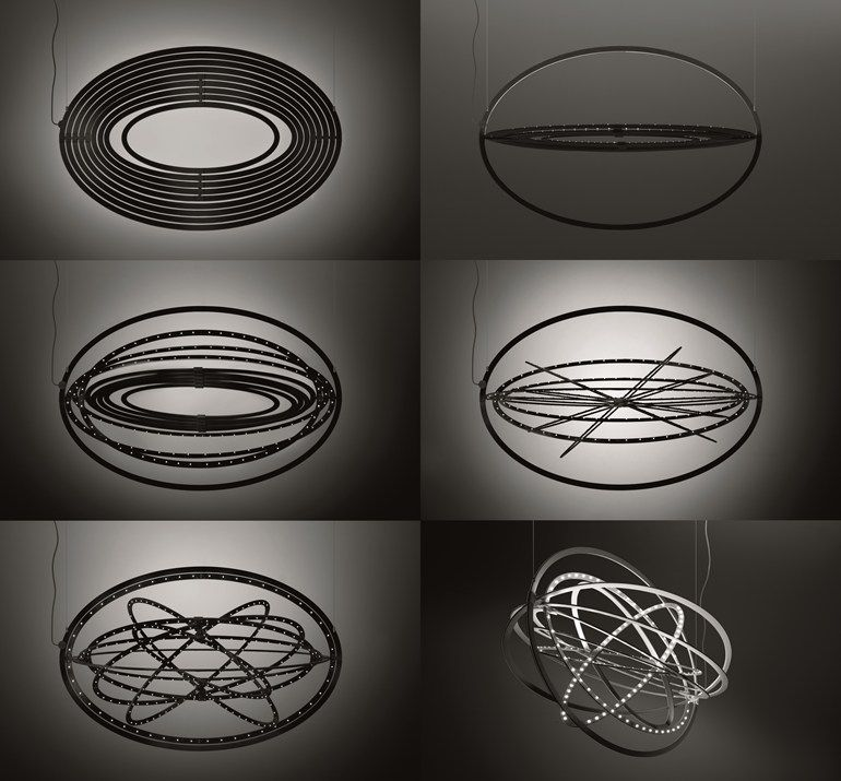 LED aluminium pendant lamp COPERNICO Copernico Collection by ARTEMIDE | design Carlotta de Bevilacqua, Paolo Dell'Elce