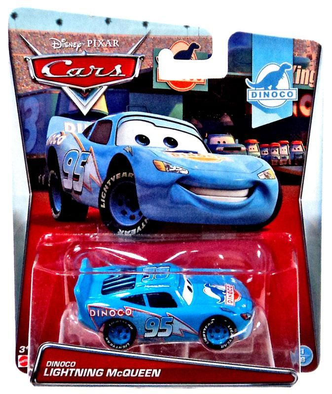 Disney Pixar Cars Dinoco Lightning McQueen With Piston Cup Chase