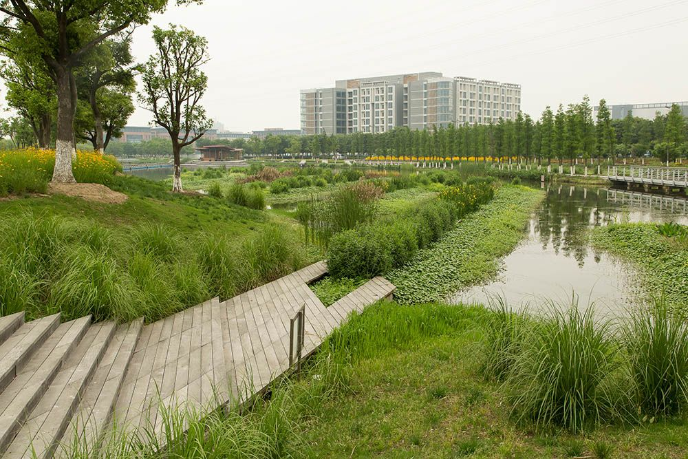 Wusong Riverfront Park Kunshan China Park Landscape
