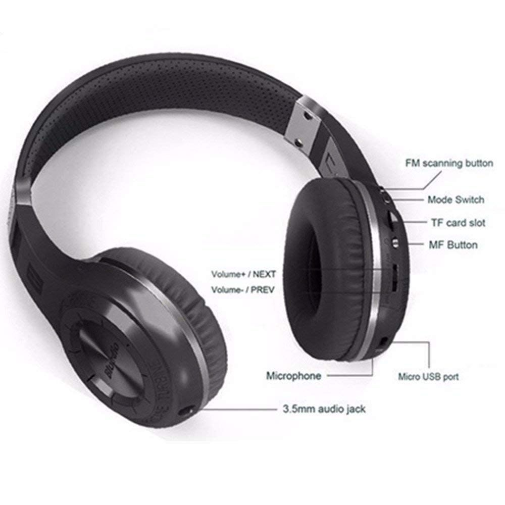 Amazon Com Techcode Headphones Wireless Noise Cancelling Bluetooth Headphone Super Bass Hi Fi Stereo Headsets Over Ear Headset Headphones Wireless Headphones
