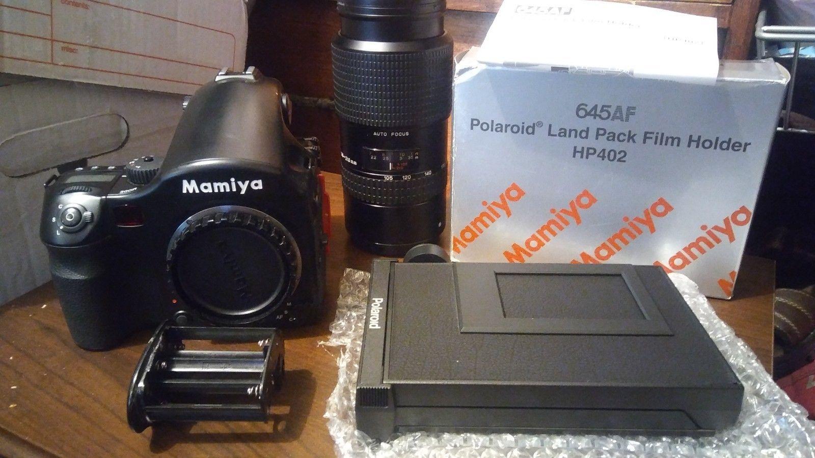SALE! Mamiya 645 AF Medium Format Camera w/120 Polaroid Back