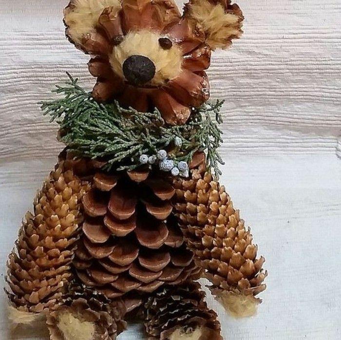 pomme de pin ours en cones ides dco - Decoration Avec Des Pommes De Pin