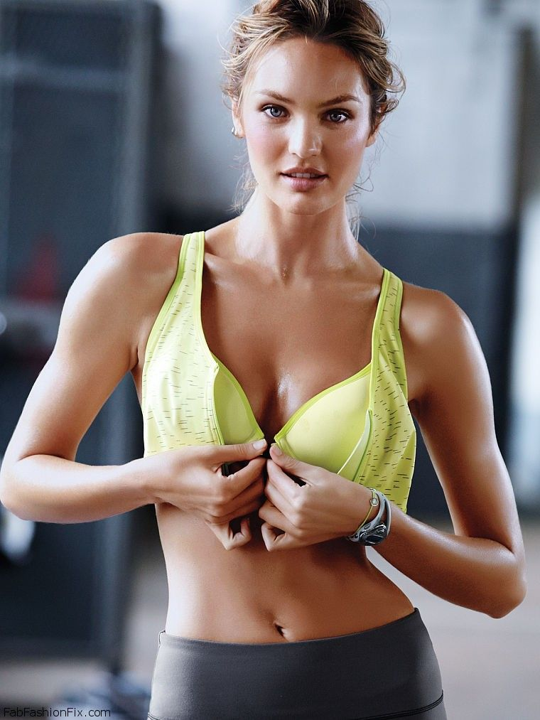 6fa85e9d8b8 Candice Swanepoel shows her athletic physique for Victoria s Secret ...