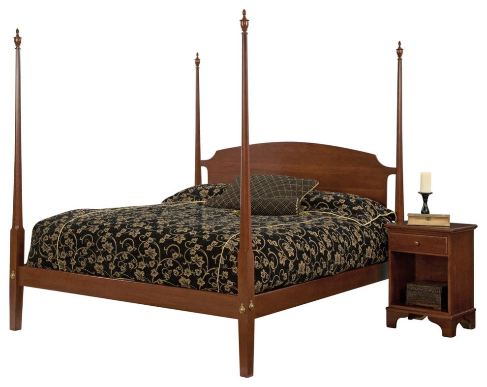 finest selection 91e92 63331 Henry Queen-Size Poster Bed, Natural Cherry | Beds and ...