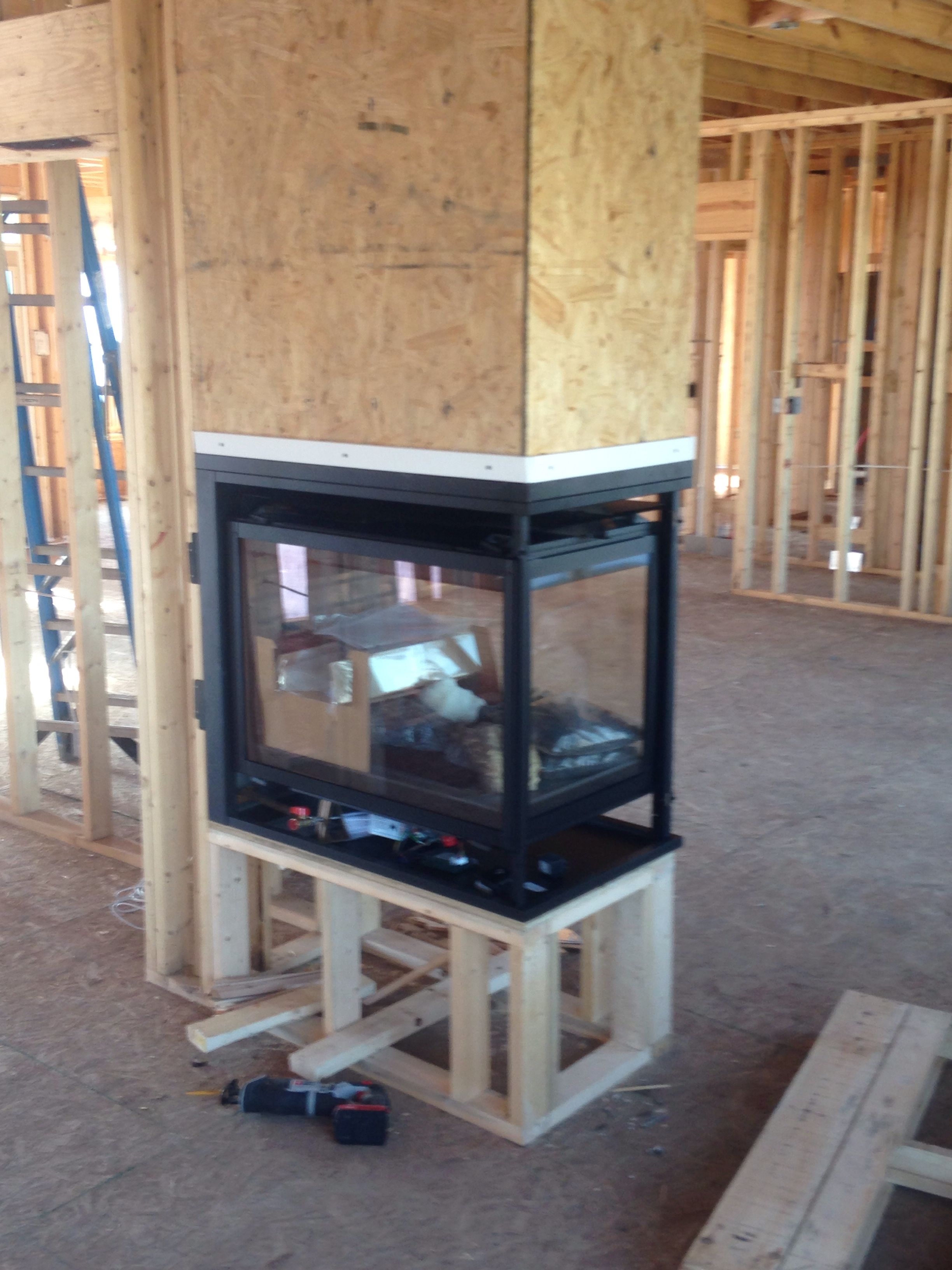 3 sided 41 gas fireplace maple grove in avon gas