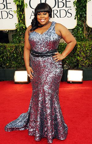 Amber Riley Toniplus Curvy Plus Size Curvy Red Carpet Dress