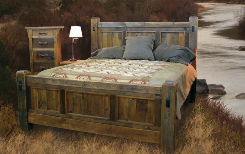 Rustic Wood Bedroom Furniture handcrafted reclaimed wood bed and bedroom furnture | bedroom