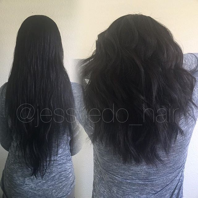 Chopped off about 6 inches and gave her a nice beach wave style! Her hair is insanely coarse, so this textured haircut gave her so much more volume! ✂️ @modernsalon @beautifinder @beautylaunchpad @american_salon  @behindthechair_com  #americansalon #guytang #beautylaunchpad #modernsalon #behindthechair #shorthair #ombre #btcpics #hairstylist #olaplex #redken #haircut #newhair #ombre #balayage