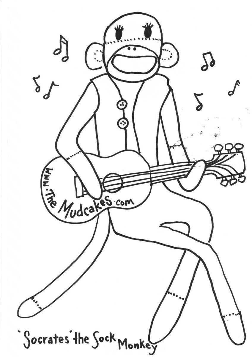 Sock Monkey Coloring Pages Sock Coloring Page Sock Monkey Coloring Page In 2020 Monkey Coloring Pages Coloring Pages Horse Coloring Pages