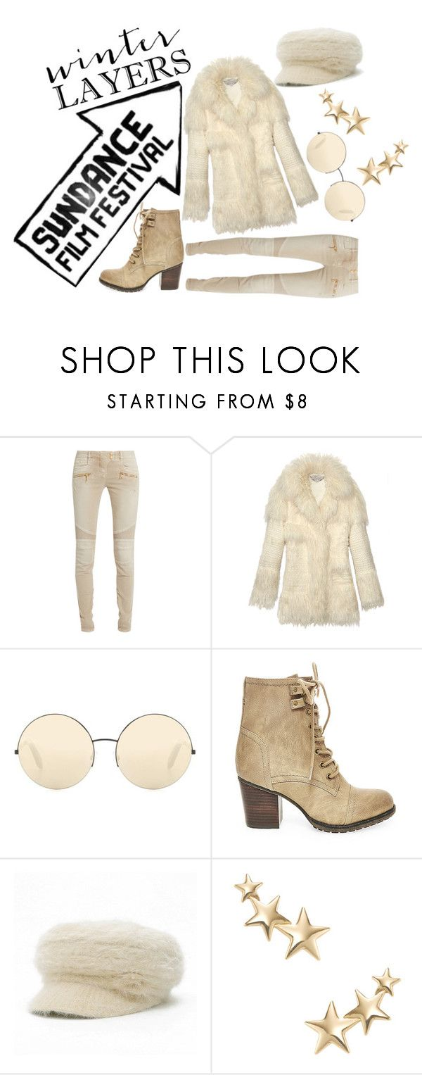 """Sundance Style"" by sum1smuse ❤ liked on Polyvore featuring Balmain, STELLA McCARTNEY, Victoria Beckham, Steve Madden, Kenneth Jay Lane and sundance"