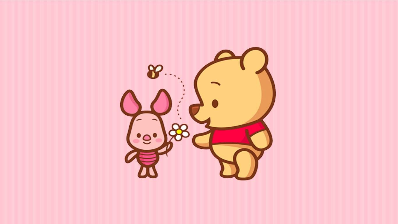 Disney Winnie the Pooh and Piglet Wallpaper Background for