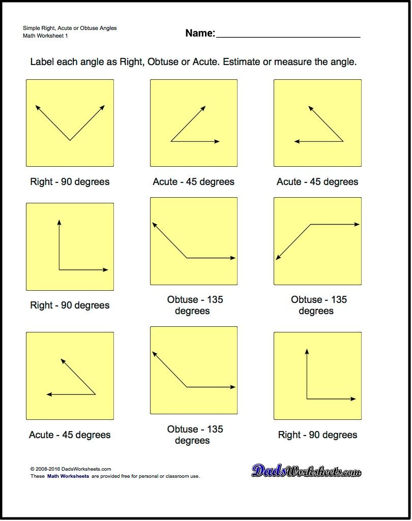 Geometry Worksheets The Basic Geometry Worksheets In This